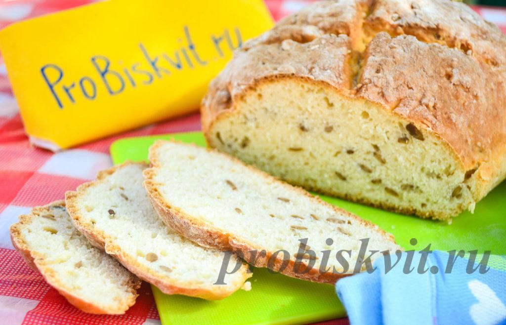 вкусный бездрожжевой хлеб