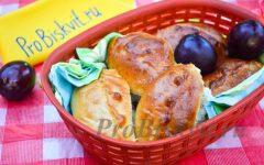 пирожки дрожжевые со сливой в духовке