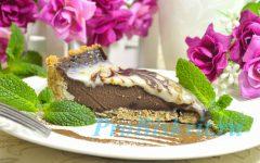 шоколадный праздничный десерт