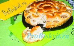 пирог хризантема с мясом пошаговый рецепт