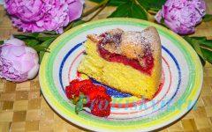 клубничная шарлотка рецепт с фото
