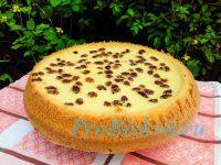 бисквит с изюмом в духовке рецепт