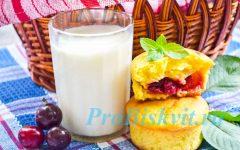 творожные кексы с вишней рецепт