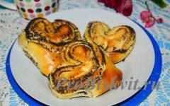 булочки- сердечки из дрожжевого теста рецепт