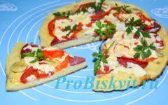 пицца пятиминутка на сковороде