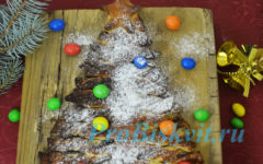 новогодний пирог елочка