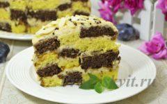 шахматный торт рецепт с фото